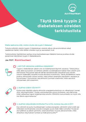 Faktatietoa ja lukuja sydän- ja verisuonisairauksista ja tyypin 2 diabeteksesta